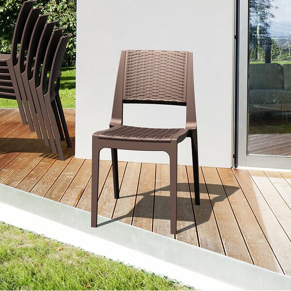 Kesler Stacking Patio Dining Chair (Set Of 2) By Brayden Studio