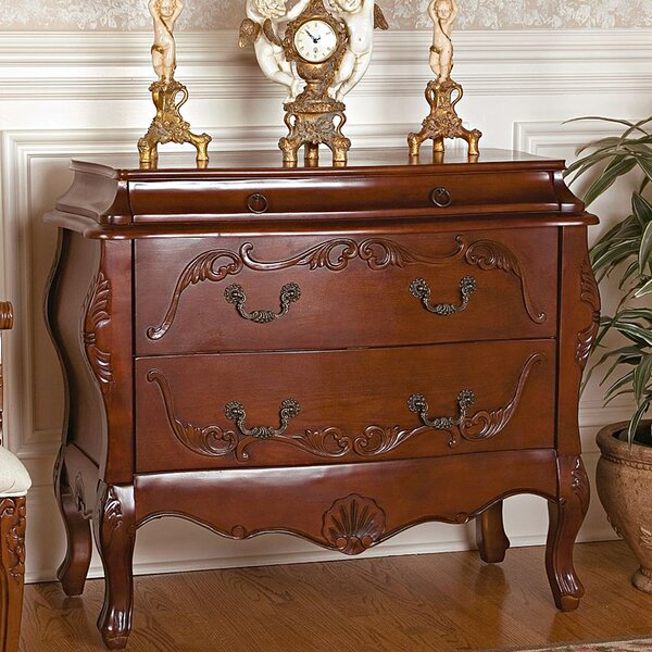 Jean Henri Bombe Commode 2 Drawer Chest by Design Toscano Design Toscano