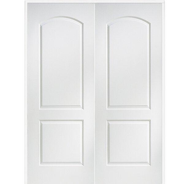 Caiman Arch Top Primed Double MDF Panelled Prehung Interior Door by Verona Home Design