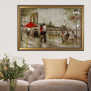 New York Romance' by Ruane Manning Framed Painting on Canvas by Wexford Home