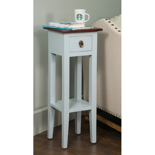 Frederica End Table with Storage by August Grove