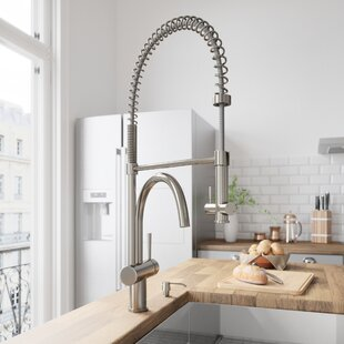 Dresden Pull Down Single Handle Kitchen Faucet with Optional Soap Dispenser ByVIGO