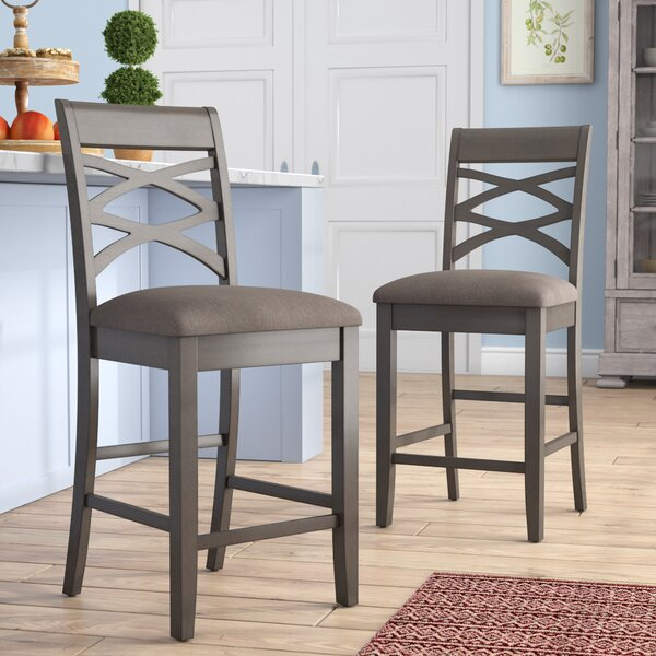 Fantastic Cross Back Bar Stool Wayfair Squirreltailoven Fun Painted Chair Ideas Images Squirreltailovenorg