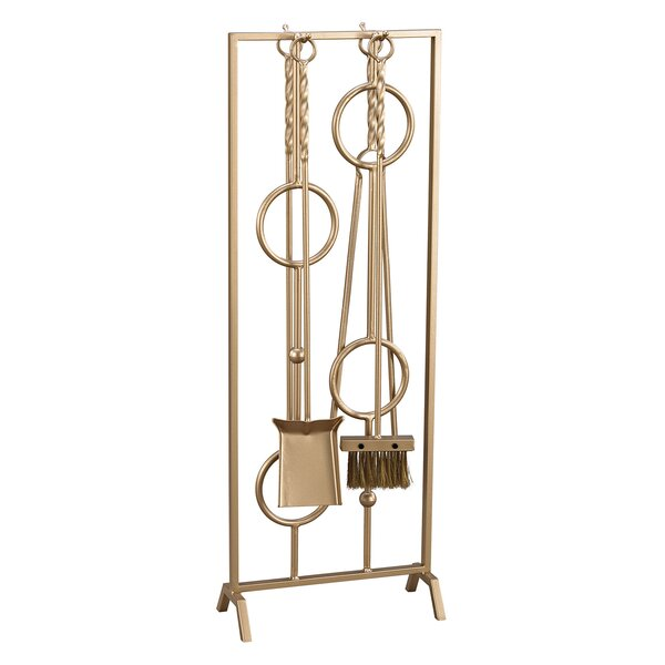 Zaire 5 Piece Metal Fireplace Tool Set by Willa Arlo Interiors