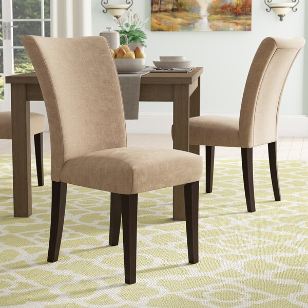 Doerr Linen Parson Upholstered Dining Chair (Set of 2) by Charlton Home