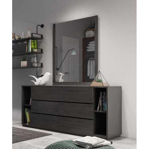 Defalco 6 Drawer Dresser with Mirror by Foundry Select