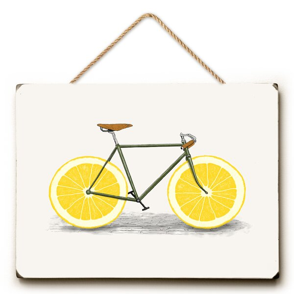 Lemon Zest Painting Print by Wrought Studio
