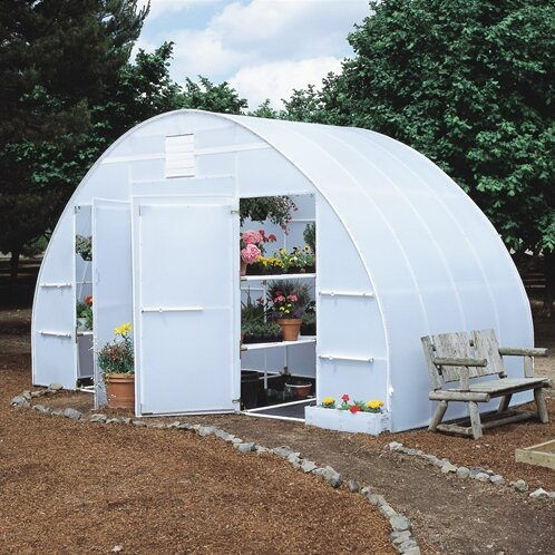 Conservatory 16 Ft. W x 8 Ft. D Greenhouse by Solexx