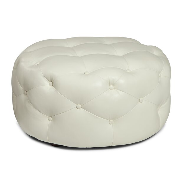 Simon Leather Tufted Cocktail Ottoman By Everly Quinn Herry Up
