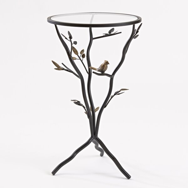 High Quality InnerSpace Luxury Products Glass Bird Table With Removable Glass Top U0026  Reviews | Wayfair