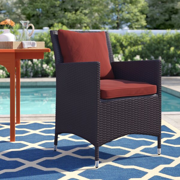 Brentwood Patio Dining Chair With Cushion By Sol 72 Outdoor