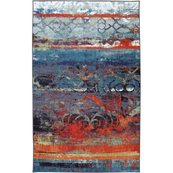 Vermont Blue Area Rug by World Menagerie