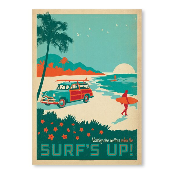 Surfs up! Vintage Advertisement by East Urban Home