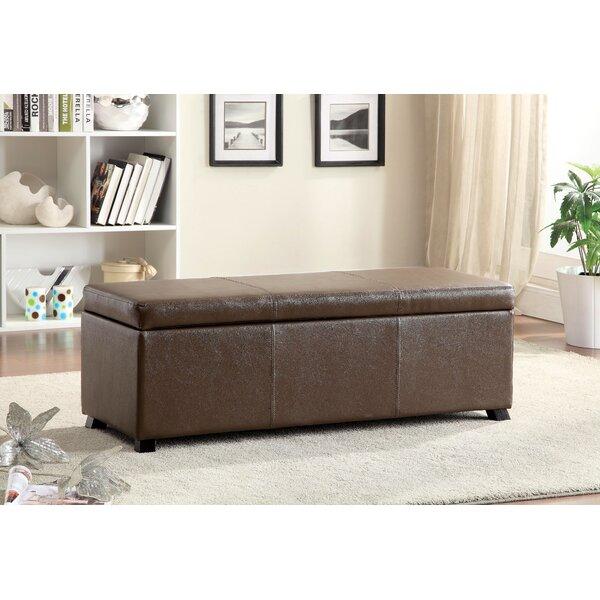 Wendell Leather Storage Bench by Hokku Designs