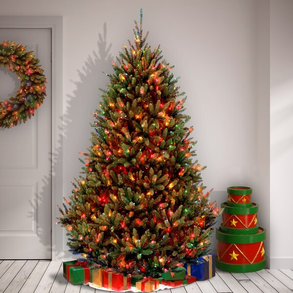 competitive price d3623 4bdb8 Natural Fraser 7.5' Green Fir Artificial Christmas Tree with 1000  Multi-Colored Lights