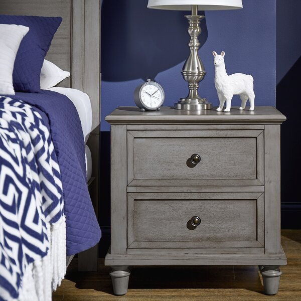 Faught 2 Drawer Nightstand by Harriet Bee