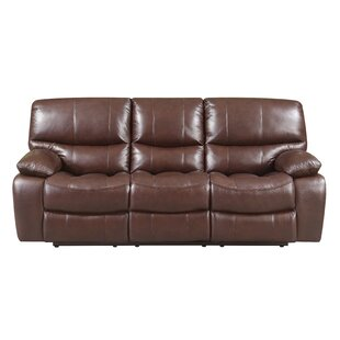 Ledoux Leather Reclining Sofa Red Barrel Studio