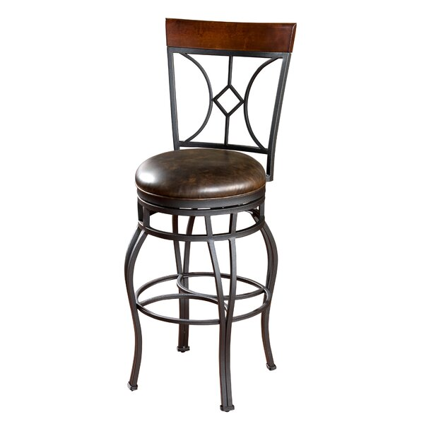 Dombroski 30 Swivel Bar Stool by Red Barrel Studio