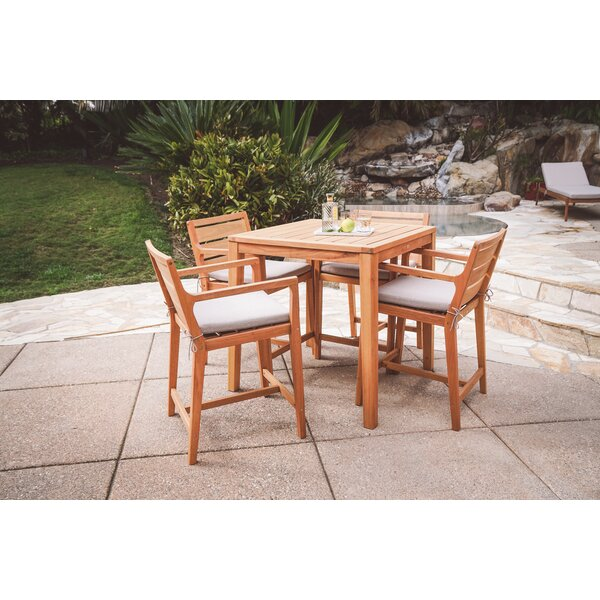 Esperance 5 Piece Bar Height Dining Set With Cushion By Bayou Breeze