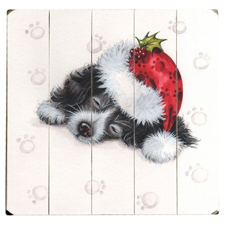 Sleeping Puppy Graphic Art Multi-Piece Image on Wood by Artehouse LLC