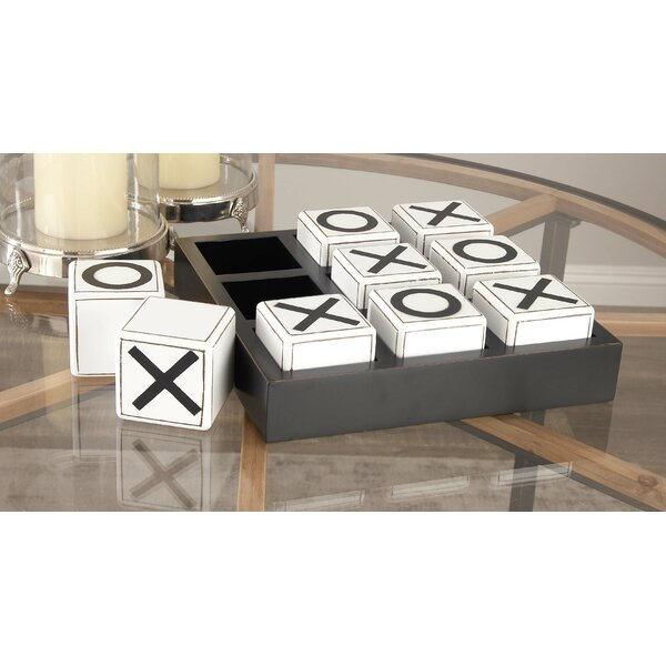 Wood Tic Tac Toe Game Letter Blocks by Cole & Grey