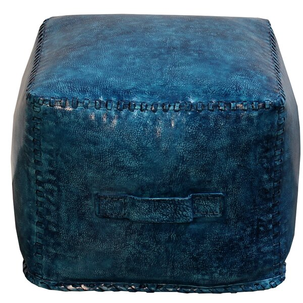 Hardt Leather Cube Ottoman By Ivy Bronx