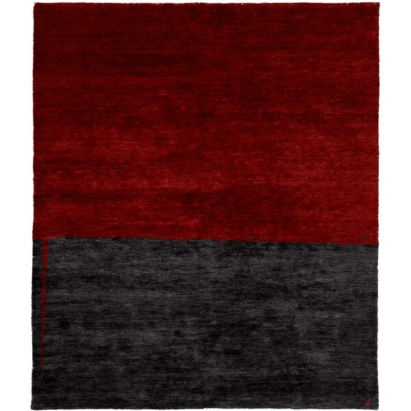 One-of-a-Kind Portia Hand-Knotted Traditional Style Red 12' x 18' Wool Area Rug