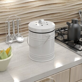Oversized 1.3 Gallon Kitchen Compost Bin by Cooler Kitchen