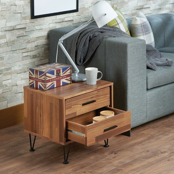 Andres Contemporary 2 Drawers Nightstand by Langley Street