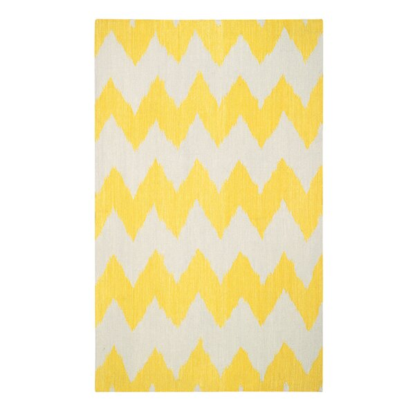 Insignia Leo Sun Yellow/Cream Area Rug by Genevieve Gorder Rugs