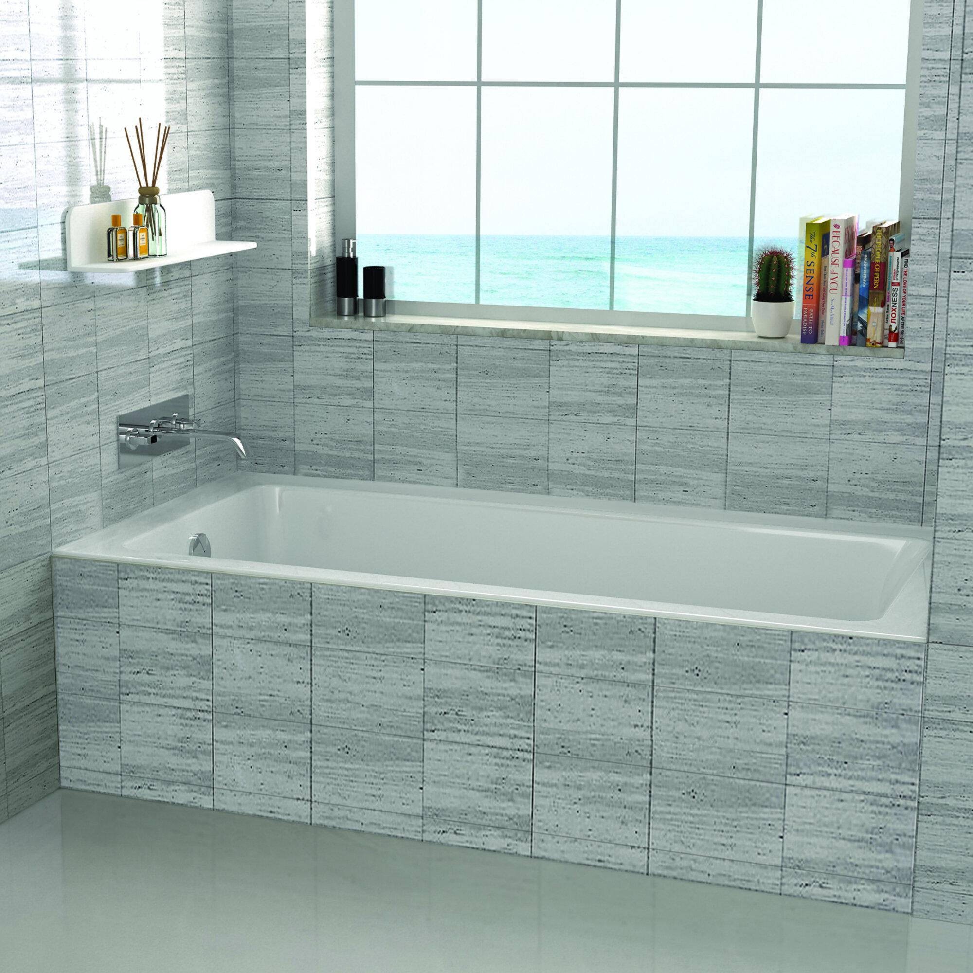Fine Fixtures 60 X 32 Drop In Soaking Bathtub Reviews Wayfair