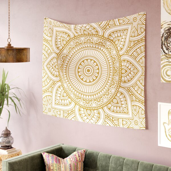 NL Designs Rainbow Grunge MandalaTapestry and Wall Hanging by East Urban Home