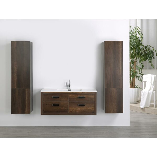 47 Wall-Mounted Single Bathroom Vanity Set by Streamline Bath