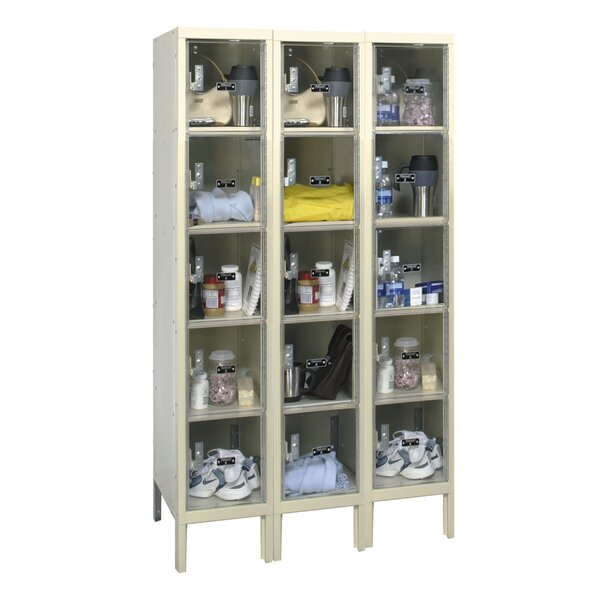 Safety-View 5 Tier 3 Wide Safety Locker by HallowellSafety-View 5 Tier 3 Wide Safety Locker by Hallowell