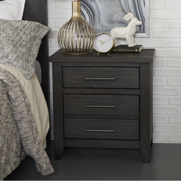 Pecor 3 Drawer Nightstand by Gracie Oaks