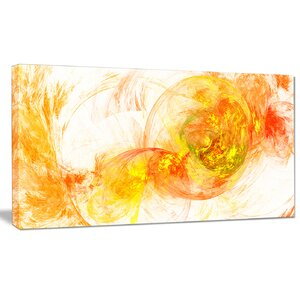 'Colored Smoke' Graphic Art on Wrapped Canvas in Yellow by Design Art