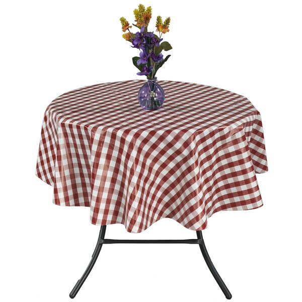 Essential Checkered Design Indoor/Outdoor Tablecloth by Ottomanson