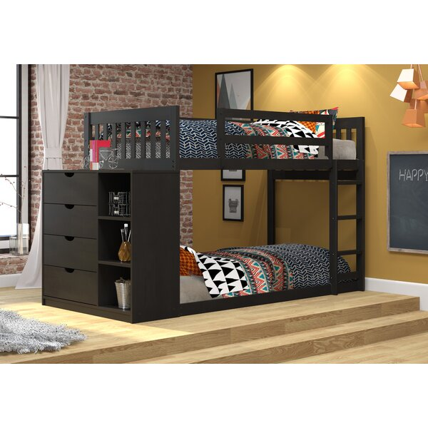 Ewart Mission Twin over Twin Bunk Bed with Chest and Storage by Harriet Bee