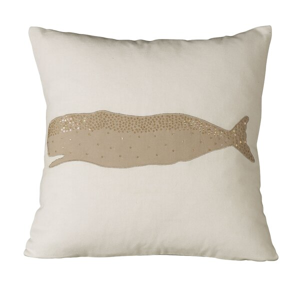 Marina Whale Embellished Pillow Cover by Birch Lane™