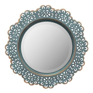 August Grove Pettine Metal Lace Accent Wall Mirror