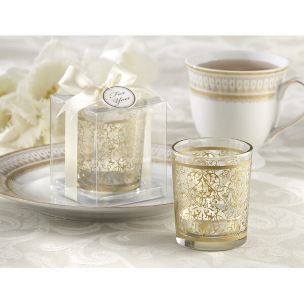 Glass Tealight Holder (Set of 16) by Three Posts