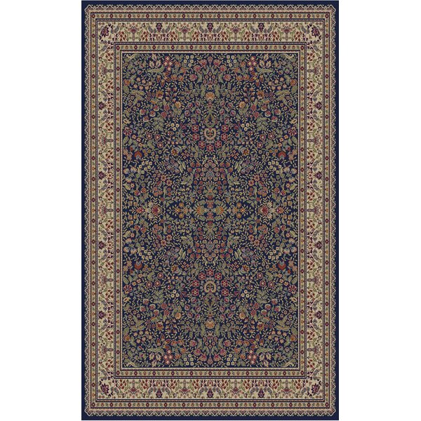 Jewel Sarouk Navy Area Rug by Threadbind