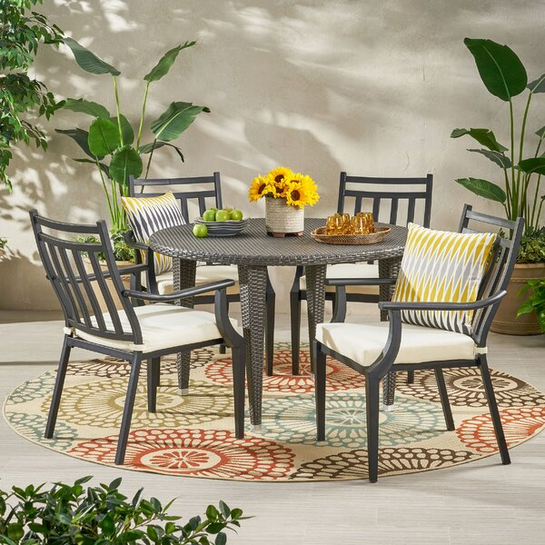 5 Piece Dining Set with Cushions by Bloomsbury Market