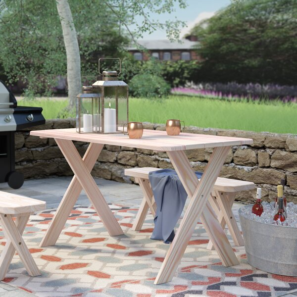 Sheep Mountain Pine Cross-leg Picnic Table by Loon Peak