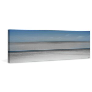 'Grey Water' by Parvez Taj Painting Print on Wrapped Canvas by Beachcrest Home