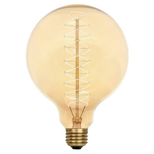 40W Amber G40 Light Bulb by Westinghouse Lighting