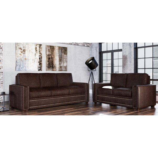 Dallas 2 Piece Leather Living Room Set by Westland and Birch Westland and Birch