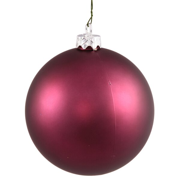 Christmas Ball Ornament with Cap (Set of 6) by The Holiday Aisle
