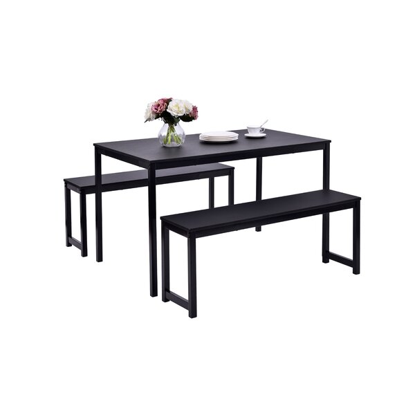 Modern Partin 3 Piece Dining Set By Williston Forge Great Reviews