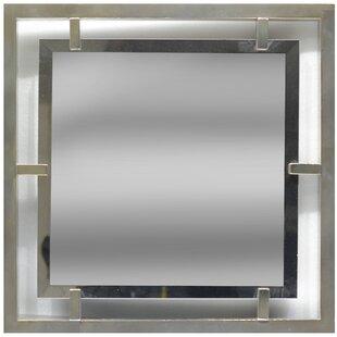 House of Hampton Minnick Glass Beveled Accent Mirror